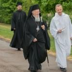 25 avril 2017 : Accueilli par Fr. ALOIS le patriarche de Constantinople BARTHOLOMEE I en visite à la communauté de Taizé, en Bourgogne, haut lieu de l'œcuménisme européen. Taizé (71), France.