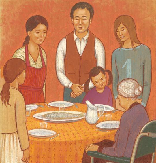 prier en famille- table
