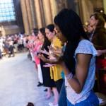 30 juin 2013 : Messe de lancement des JMJ de Rio 2013, à l'église Saint Germain des près de Paris (75), France.  June 30, 2013: Mass for the launch of WYD (World Youth Days) 2013 of Rio de Janeiro, in the in the church Saint-Germain des Prés, Paris (75), France.