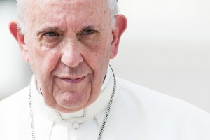 27 septembre 2017 : Portrait du pape François lors de l'audience générale, au Vatican. September 27, 2017: Portrait of Pope Francis, during the weekly general audience at the Vatican.