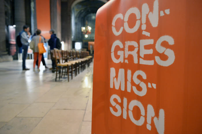 """29 septembre 2017 : 3e édition du Congrès Mission sur le thème """"comment proposer la foi, aujourd'hui?"""". Soirée d'ouverture, égl. Saint-Sulpice. Paris (75), France."""