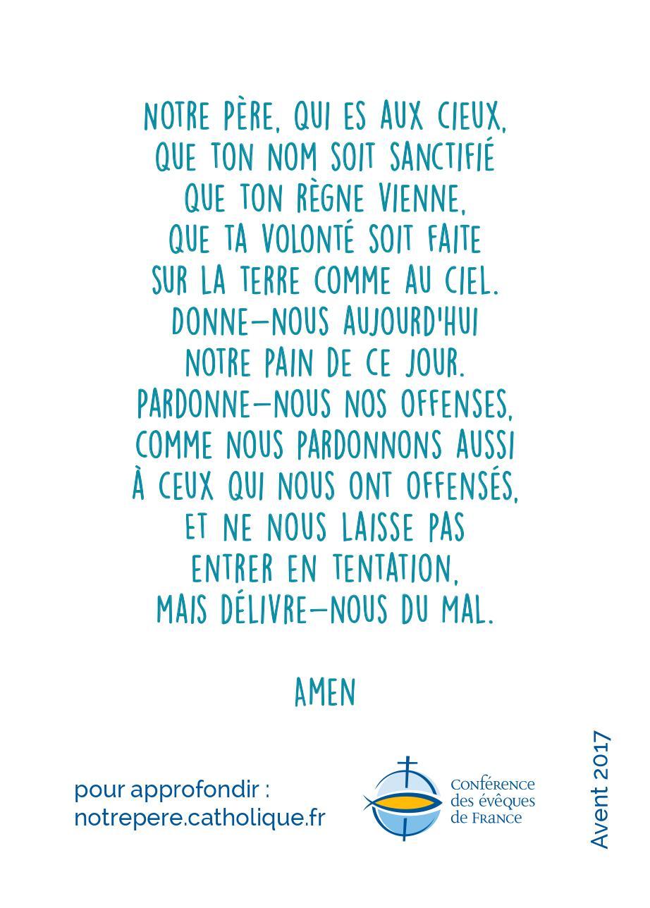 Exceptionnel Nouvelle traduction du Notre Père - Église catholique en France LG39