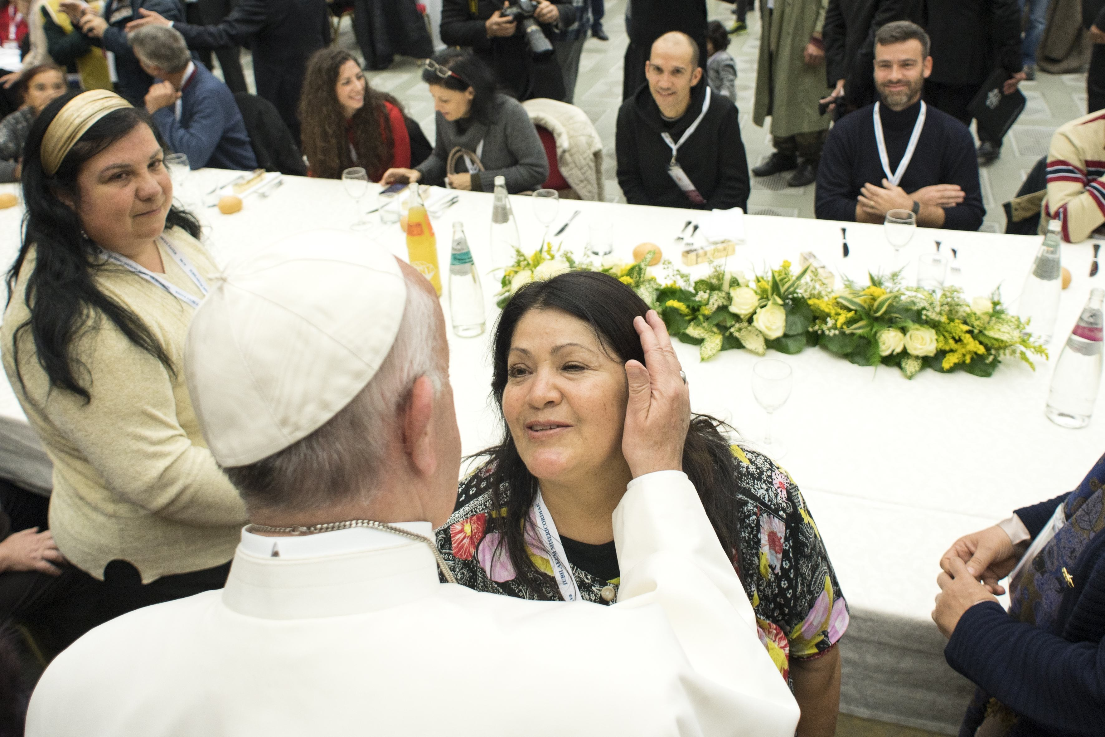 SS. Papa Francesco - Pranco con i poveri  19-11-2017   @Servizio Fotografico - L'Osservatore Romano