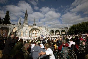 15 septembre 2008: Messe des malades, Lourdes (65), France.