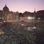 Place St Pierre pendant les JMJ de Rome, en 2000.