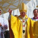 21 août 2011: Benoît XVI lors de la messe de clôture des JMJ 2011 à Cuatro Vientos, Madrid, Espagne.