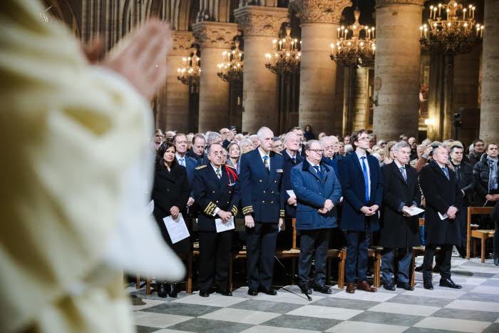 6 Janvier 2018 : Personnalités politiques lors de la messe d'installation de Mgr Michel AUPETIT, nouvel archevêque de Paris, célébrée en la cath. Notre-Dame à Paris (75), France.