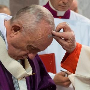 Pape mercredi des Cendres