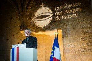 Discours de Mgr Pontier devant Emmanuel Macron et les représentants de l'Etat