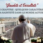exhoration gaudete et Excultate chapitre 4