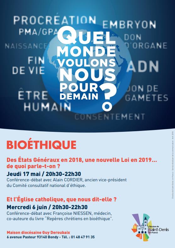 Soirée bioéthique - diocèse de saint-Denis
