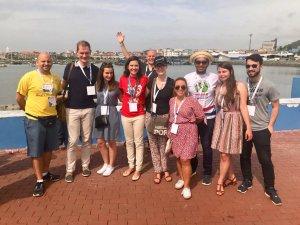 les jeunes délégués JMJ à la rencontre internationale.