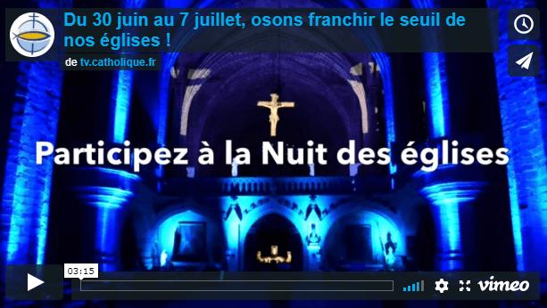 Vidéo Nuit des eglises