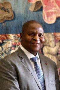 25 janvier 2018 : Faustin-Archange TOUADERA, président de la République centrafricaine lors de sa visite privée au Vatican. January 25, 2018: Central African Republic President Faustin-Archange TOUADERA during a private audience at the Vatican.