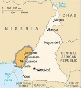 Carte Cameroun
