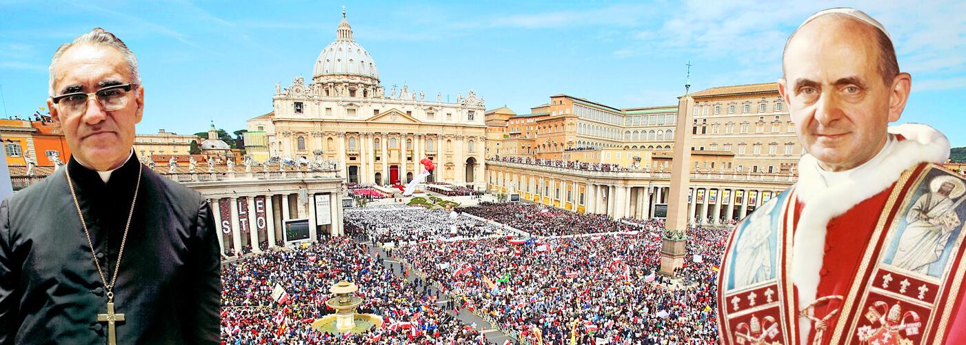 Paul VI et Mgr Romero, canonisés le dimanche 14 octobre, à Rome Canonization-of-Pope-Paul-VI-pilgrimages