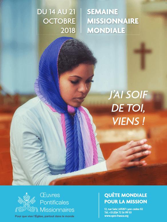 La Semaine missionnaire mondiale : « J'ai soif de toi, viens ! » Semaine-missionnaire-mondiale-1