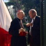 Cardinal Poupard et Le Drian