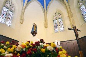 14 juin 2015 : Sanctuaire Notre-Dame de Grâces, Cotignac (83), France. June 14, 2015: Sanctuary of Notre-Dame de Grâces, Cotignac, France.