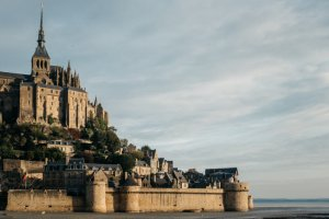 24 septembre 2017 : Vue partielle du Mont Saint-MIchel (50), France.
