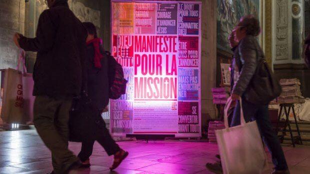 """28 septembre 2018 : 4e édition du Congrès Mission sur le thème """"Par amour il nous a relevés, pour l'amour il nous a envoyés"""". Soirée d'ouverture. Eglise Saint-Sulpice, Paris (75), France."""
