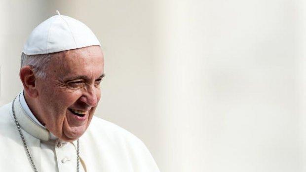 17 octobre 2018 : Portrait du pape François lors de l'audience générale au Vatican.  October 17, 2018: Protrait of Pope Francisduring the wednesday general audience in Saint Peter's square at the Vatican.