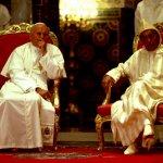 19 août 1985: Rencontre de Jean Paul II avec Hassan II, roi du Maroc et commandeur des croyants à Casablanca, Maroc, Maghreb, Afrique du nord.