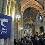 """21 Mars 2015: Premier Rassemblement islamo-chrétien """"Ensemble avec Marie"""" à la basilique de Longpont-sur-Orge (92) France.  March 21th, 2015: First muslim-christian gathering """"With Mary"""" in Longpont-sur-Orge basilica (92) France."""