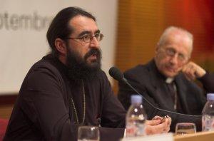 """12 septembre 2005 : Cité internationale, Table Ronde """" Bible, spiritualité, humanisme"""". Métropolite Joseph Pop, Patriarcat orthodoxe de Roumanie. Sant'Egidio à Lyon."""