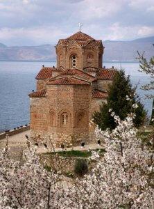 2004: Eglise Orthodoxe Saint Jovan Kaneo, Ohrid, République de Macédoine, Europe du Sud. 2004: Church of Saint Jovan Kaneo, town of Ohrid on the shore of Lake Ohrid, Macedonia, (The Former Yugoslav Republic of Macedonia, FYRM).