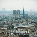 8 juin 2018 : Vue de Paris avec la cathédrale Notre-Dame. Paris (75), France.
