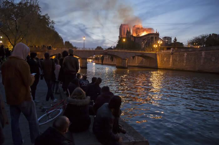 15 avril 2019 : Incendie de la cathédrale Notre-Dame de Paris. Paris (75), France.