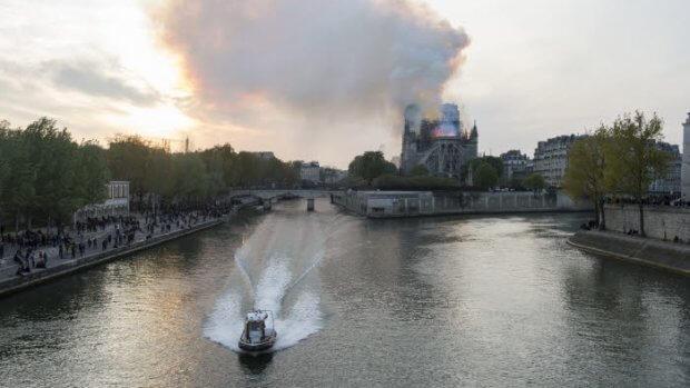 15 avril 2019 : Incendie de la cathédrale Notre-Dame à Paris (75), France.