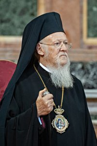 23 mai 2018 : Bartholomée Ier, patriarche œcuménique de Constantinople (Eglise orthodoxe) lors de la prière oecuménique en la basilique des Saints-Apôtres à Rome, Italie. May 23, 2018: His Holiness Bartholomew, Ecumenical Patriarch of Constantinople, leads an ecumenical Prayer in the Basilica of the Holy XII Apostles in Rome, Italy.