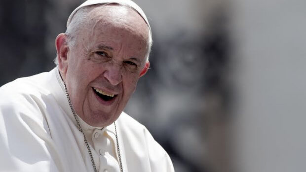 22 mai 2019 : Le pape François lors de l'audience générale hebdomadaire au Vatican.  May 22, 2019: Pope Francis at the end of his weekly general audience at the Vatican.