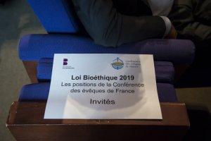 16 septembre 2019 : Bioéthique, les positions de la Conférence des évêques de France (CEF) au Collège des Bernardins. Paris (75), France.