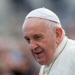 6 novembre 2019 : Le pape François durant l'audience générale. Vatican.  November 6, 2019: Pope Francis leads the weekly general audience at the Vatican.