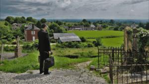 Mgr Habert en visite pastorale sur le territoire dans l'Orne.