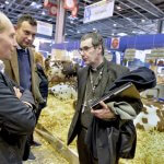 26 février 2018 : Une délégation d'évêques français au salon international de l'agriculture. Mgr Jacques HABERT, évêque de Séez. Paris (75), France.