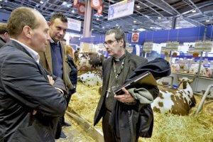 26 février 2018 : Une délégation d'évêques français au salon international de l'agriculture. Mgr Jacques HABERT, évêque de Séez. Paris (75), France.