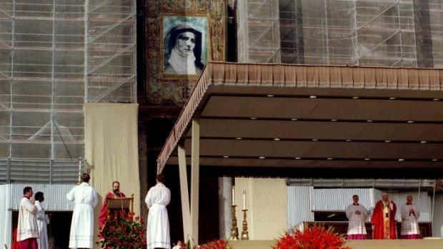 ROME: CANONISATION D'EDITH STEIN PAR JEAN PAUL II A ROME