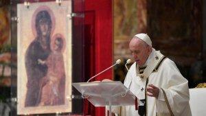 Pape François lors de la Vigile Pascale