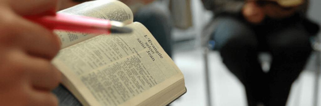 bannière d'article haut de page partage d'évangile bible catéchèse