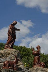 Statuaire au sanctuaire Notre-Dame du Laus, Saint Etienne du Laus (05), France.