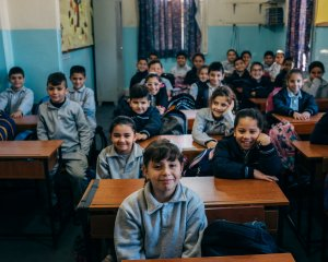 20 novembre : Elèves et salles de classe dans l'Ecole Nationale Maronite de Baalbeck. Bekaa. Liban