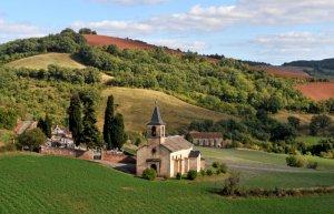 9 août 2011 : Eglise du village de Bournac (12), sud Aveyron.