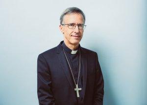 6 novembre 2019 : Portrait de Mgr Olivier de GERMAY, évêque d'Ajaccio et membre du Conseil pour les mouvements et associations de fidèles au sein de la Conférence des évêques de France (CEF). Lourdes (65), France.