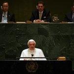 18 avril 2008: Benoît XVI prononce son discours à la tribune des Nations Unies, New-York, USA, Amérique du Nord.  Pope Benedict XVI addresses the General Assembly at the UN headquarters in New York.