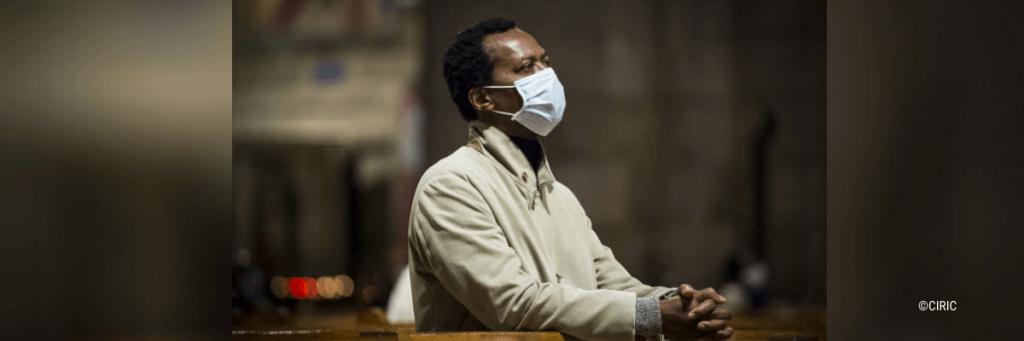 Bannière masque prière confinement