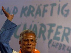09 juin 2007 : Le prix nobel de la paix Mohammad YUNUS (Bangladesh), fondateur de la Grameen Bank, lors du 31ème Kirchentag à Cologne, Allemagne.